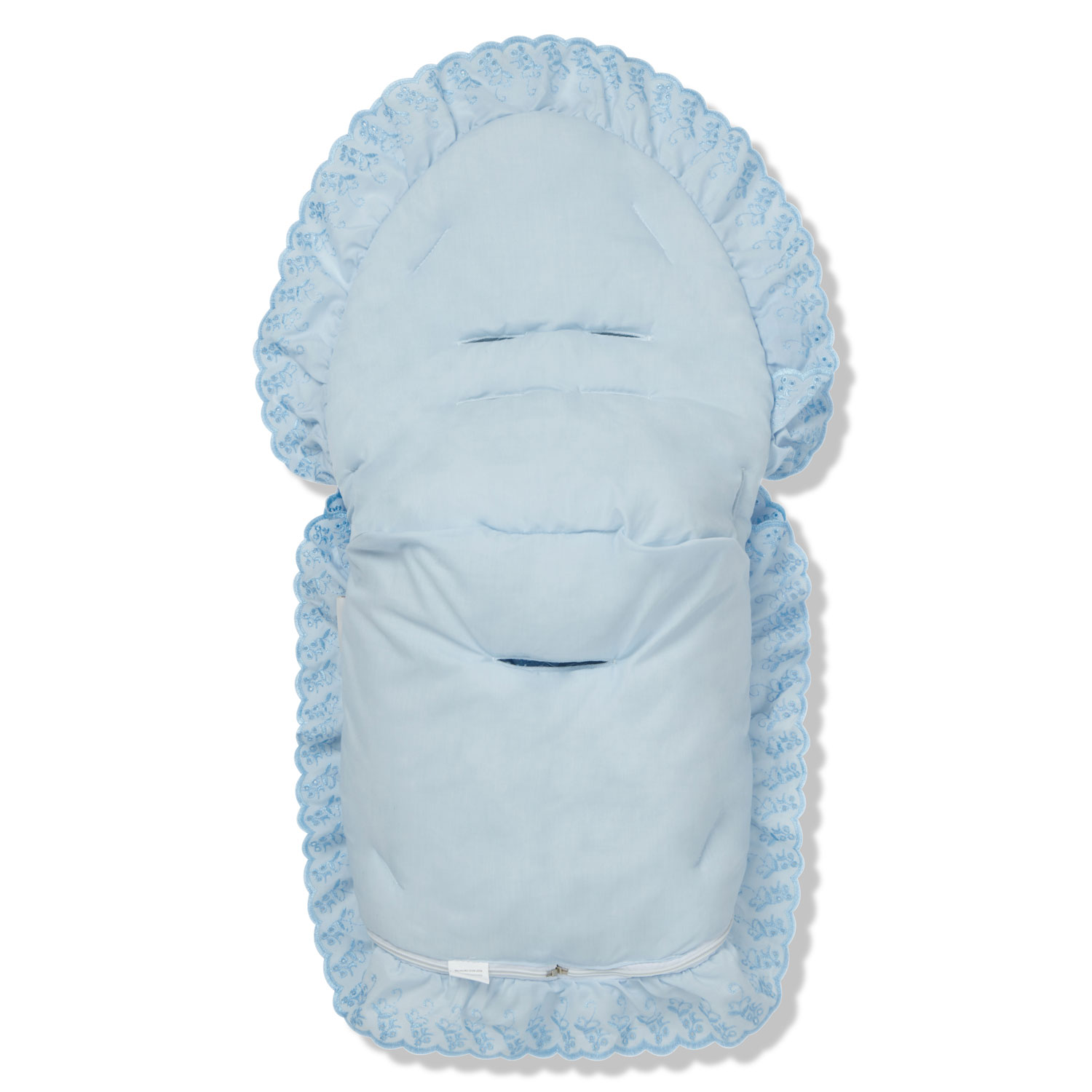Universal Personalised Cosy Toes//Footmuff With Hood Frill Too Match