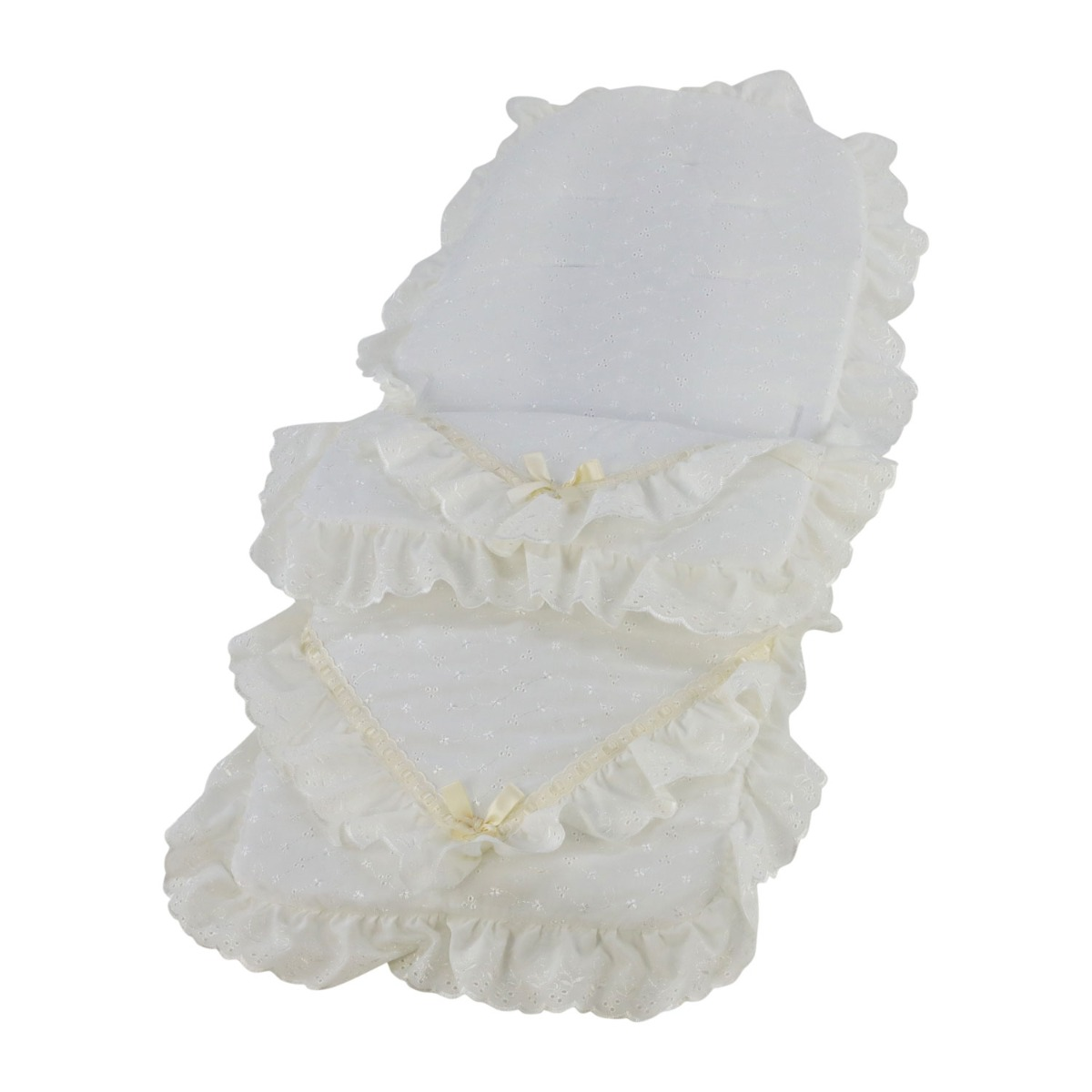 Broderie-Anglaise-Pushchair-Footmuff-Cosy-Toes-Deluxe thumbnail 13