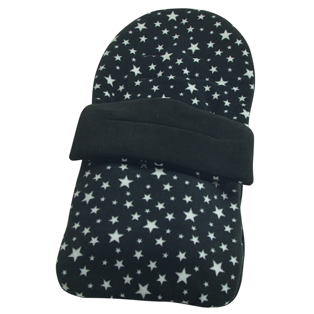 Black Outer Blue Star Fleece Footmuff Cosy Toes Compatible My Babiie Mb300